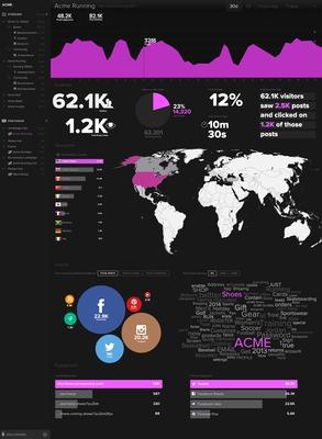 Postano's advanced analytics dashboard provides a comprehensive view of social hub performance.(PRNewsFoto/TigerLogic Corporation)