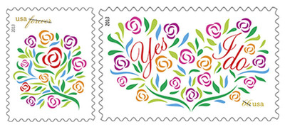 Today, the U.S. Postal Service released two new stamps, Where Dreams Blossom and Yes, I Do, just in time for the spring wedding season. Where Dreams Blossom is perfect to use for Mother's Day, graduation, save the date notices and thank you cards. They also can be used to celebrate other joyous moments or deliver comfort and encouragement. Customers may purchase the Where Dreams Blossom and Yes, I Do stamps online at The Postal Store at 800-STAMP-24 (800-782-6724) and at Post Offices nationwide.  (PRNewsFoto/U.S. Postal Service)