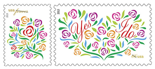 Say Yes to the Postal Service's Where Dreams Blossom and Yes, I Do Stamps