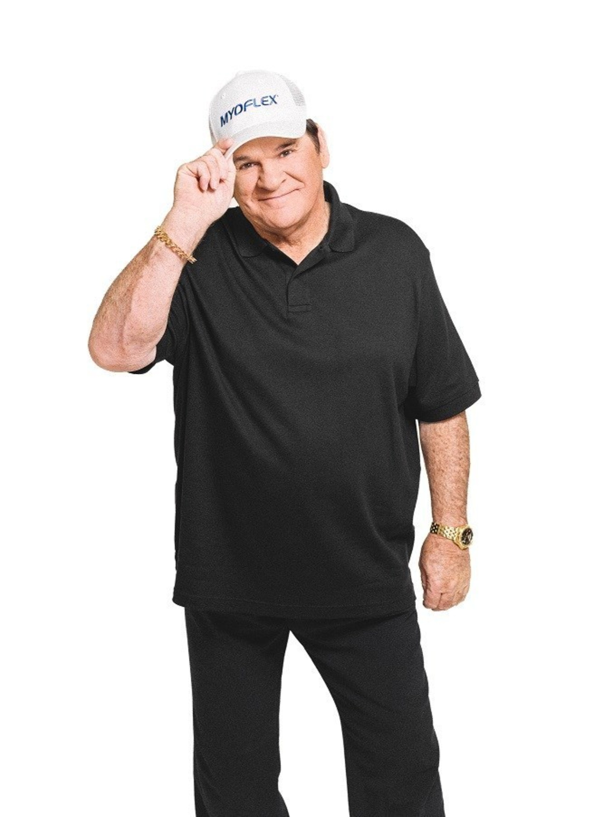 Baseball's all-time hits leader Pete Rose is the new spokesperson for Myoflex, a joint, muscle and arthritis pain reliever.