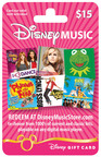 DISNEY MUSIC GIFT CARD.  (PRNewsFoto/Disney Music Group)