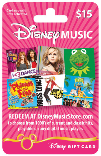 DISNEY MUSIC GIFT CARD.  (PRNewsFoto/Disney Music Group)