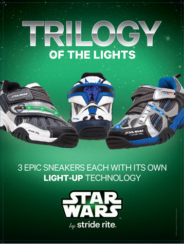 Star Wars(TM) by Stride Rite(R) Trilogy of the Lights: Unique Light-Up Technology.  (PRNewsFoto/Stride Rite ...