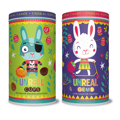 UnReal's Easter tins and bags are now available at Whole Foods Market stores in MA, NH, RI, ME, and Greater Hartford, CT.