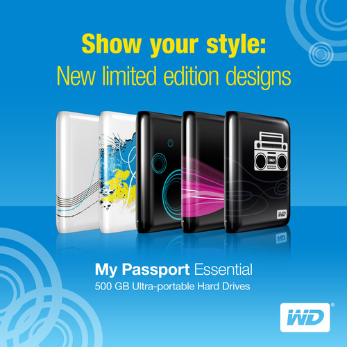 New My Passport® Essential™ Limited Edition Designs Portable Drives Personalize Storage With