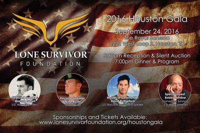 Join Marcus in stepping up to make a difference at the Lone Survivor Foundation Houston Gala on Saturday, September 24, 2016!