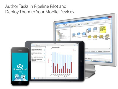 Author Tasks in Pipeline Pilot and Deploy Them to Your Mobile Devices. (PRNewsFoto/Accelrys, Inc.)