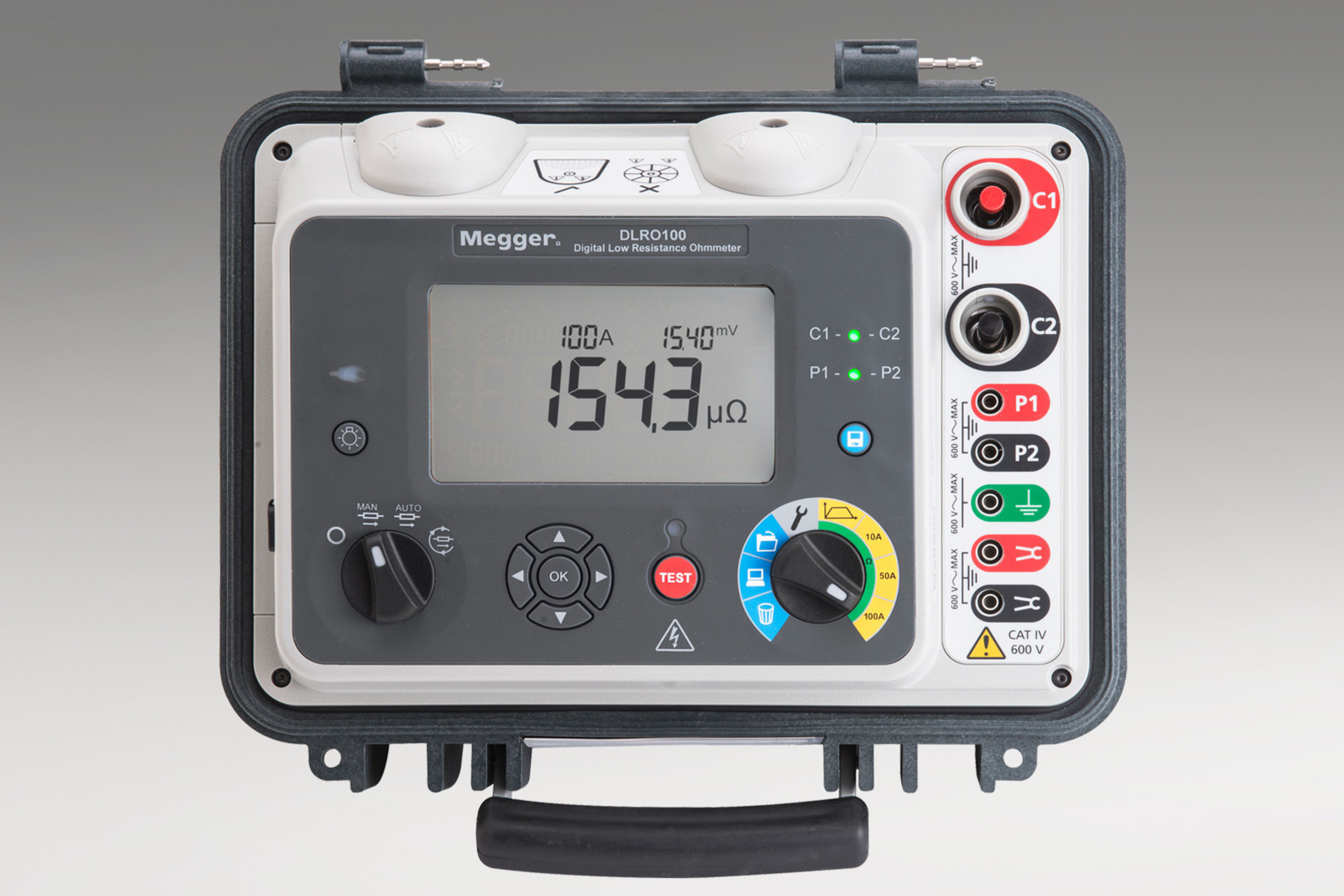 Digital Low Resistance Ohmmeters from Megger Test Resistance with Up to 100 A