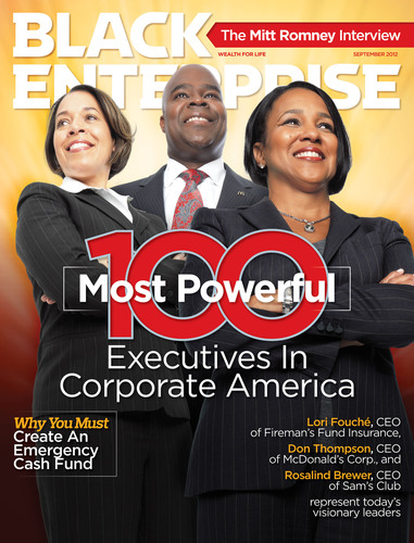 The September issue of Black Enterprise features its list of top African American corporate executives.  (PRNewsFoto/BLACK ENTERPRISE)