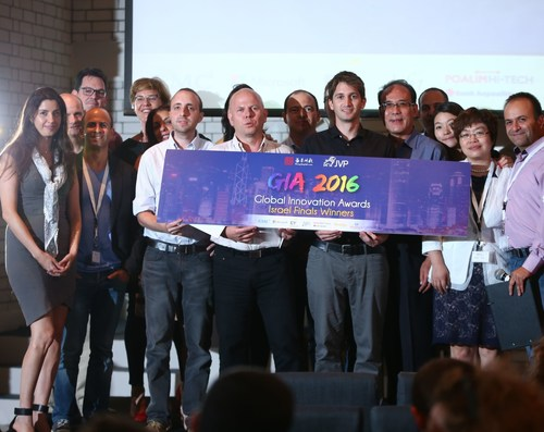GIA 2016, the three Israeli winners together with representatives from Shengjing Group & JVP and the local ...