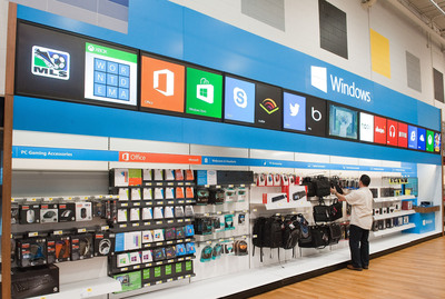 The Windows Store only at Best Buy features a wide array of software and accessories, including Windows 8 apps, Office, Skype, Xbox music and games.  (PRNewsFoto/Microsoft Corp.)