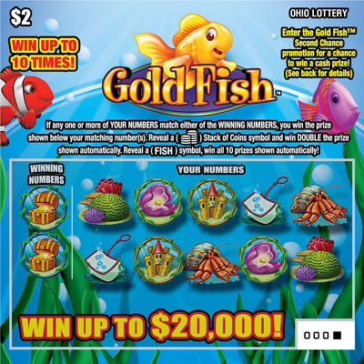 The company's multi-channel Gold Fish(R) brand is also showing its cross-channel appeal. After eight weeks, the Gold Fish instant game performed better than all other $2 Ohio Lottery instant games offered in the last fiscal year.
