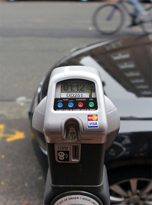 IPS credit card-enabled single-space meter.