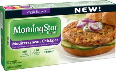 NEW MorningStar Farms ® Mediterranean Chickpea Veggie Burger.