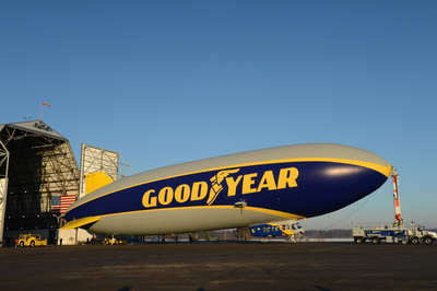 "The Goodyear Tire & Rubber Company has selected ten finalists in its national ""Name the Blimp"" contest for its newest airship, which was unveiled in March. Voting by the public will continue through May 9. (PRNewsFoto/The Goodyear Tire & Rubber Co...)"