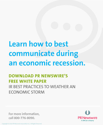 Learn investor relations best practices for navigating an economic storm in latest PR Newswire white paper