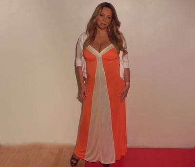 Jenny Brand Ambassador Mariah Carey before her 30 pound weight loss (July 2011). (PRNewsFoto/Jenny Craig)