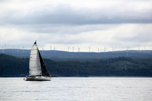 Near Port Hardy on Canada's Vancouver Island, Cape Scott Wind Project, GDF SUEZ's 99 MW renewable ...