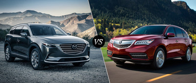 crossover suv comparison between 2016 mazda cx 9 and 2016 acura mdx reveals top new model. Black Bedroom Furniture Sets. Home Design Ideas