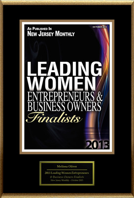 """Melissa Oliver Selected For """"2013 Leading Women Entrepreneurs & Business Owners Finalists"""". (PRNewsFoto/American Registry) (PRNewsFoto/AMERICAN REGISTRY)"""