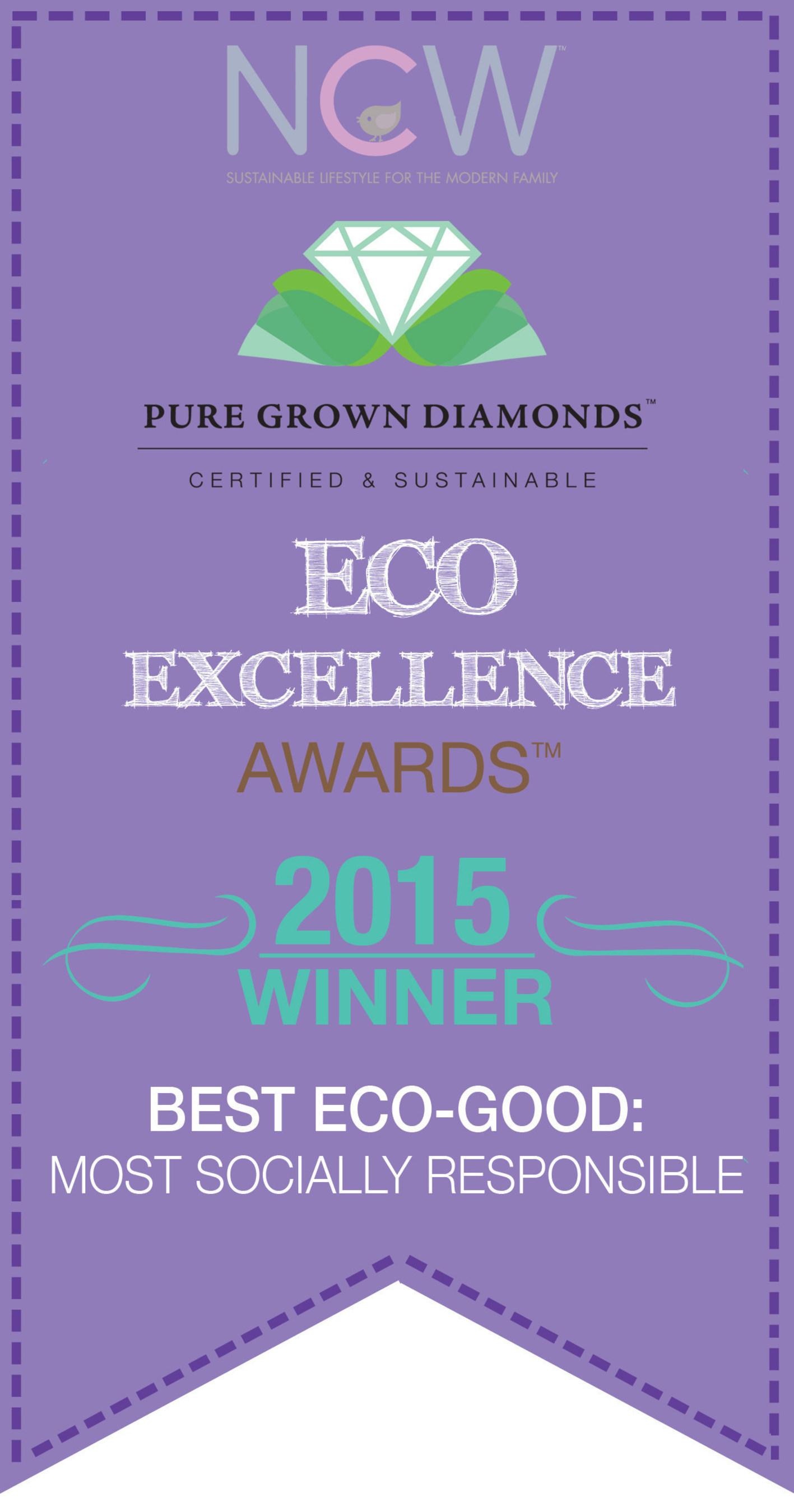 Pure Grown Diamonds wins Most Socially Responsible Eco-Good in the 2015 Eco-Excellence Awards.