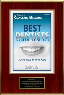 "John Heimke DMD MPH FAGD, The Facial Aesthetic Designers Selected For ""Best Dentists In Greater Cleveland.""  (PRNewsFoto/American Registry)"