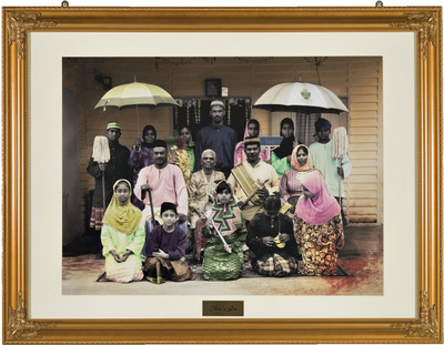 Keeping Up With the Abdullahs 2, 2012: A chromogenic print by Vincent Leong. The work is part of the No Country: Contemporary Art for South and Southeast Asia, which opens at the Asia Society Hong Kong Center on Wednesday. The exhibition is part of the Guggenheim UBS MAP Global Art Initiative, a multi-year collaboration charting contemporary art practice in three geographic regions-South and Southeast Asia, Latin America, and the Middle East and North Africa.  (PRNewsFoto/Solomon R. Guggenheim Foundation)