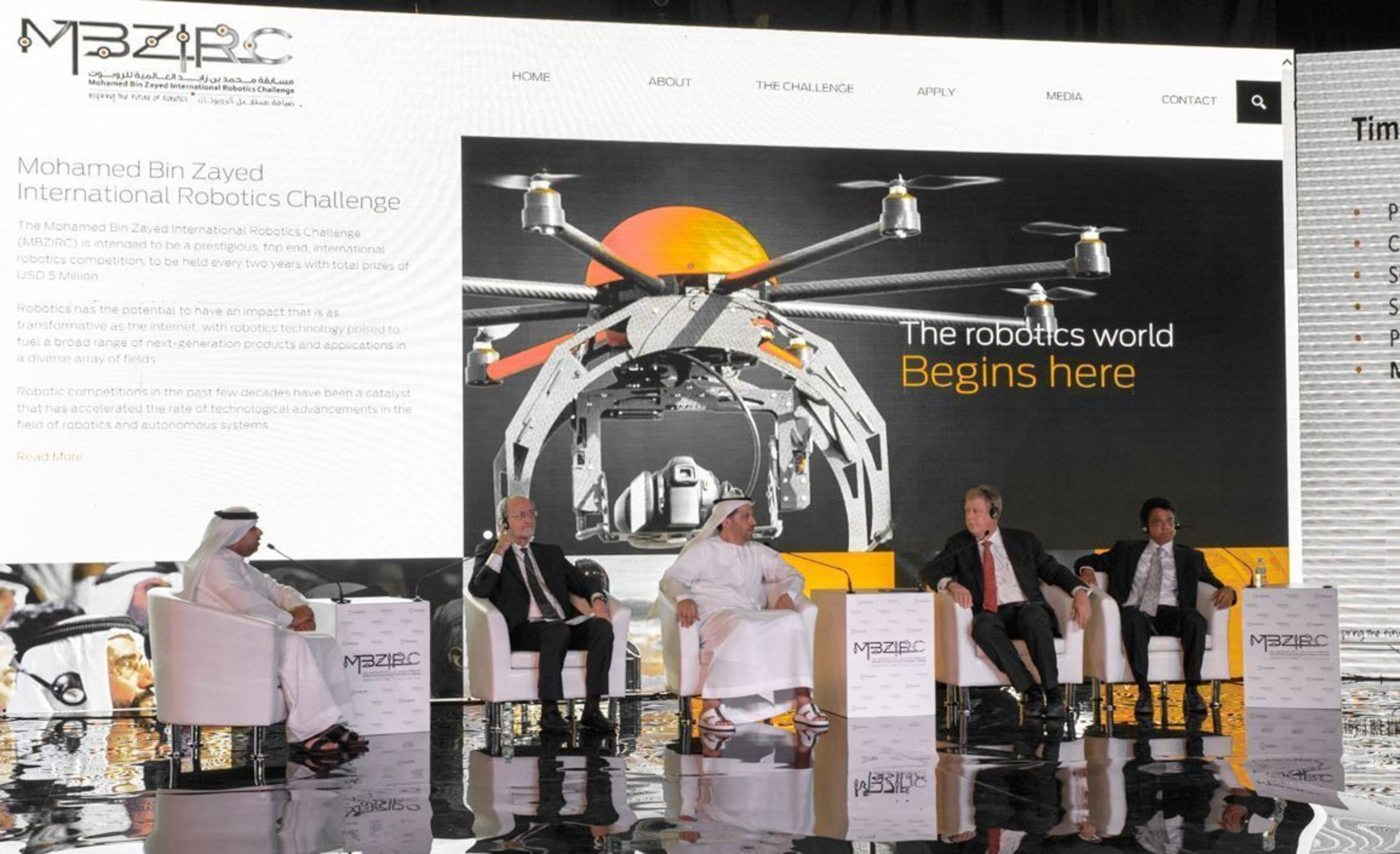 El Mohamed Bin Zayed International Robotics Challenge da a conocer detalles de la competencia