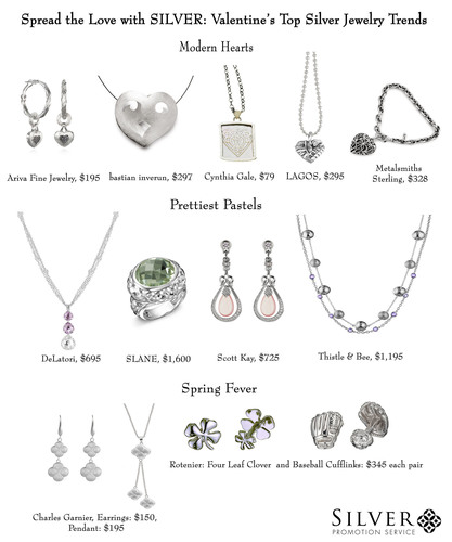 Silver Promotion Service Presents Valentine's Top Jewelry Trends