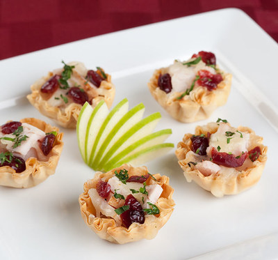 Turkey, Gruyere and Cranberry Mini Phyllo Shells (www.AthensFoods.com)