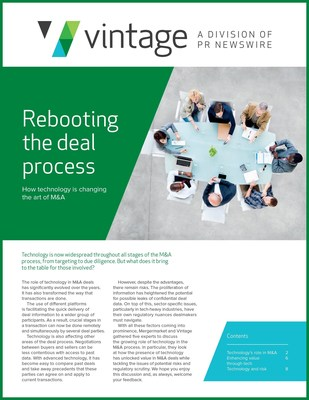WHITEPAPER for download: Rebooting the Deal Process - How technology is changing the art of M&A