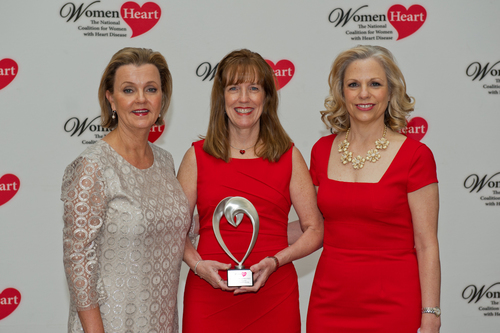 WomenHeart CEO Lisa M. Tate, Mary Norine Walsh, MD, FACC, St. Vincent Heart Center of Indiana, and WomenHeart Chair Carrie Wosicki (PRNewsFoto/WomenHeart)