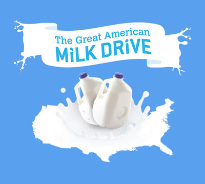 CALIFORNIA FOOD BANKS HAVE CRUCIAL NEED FOR MORE MILK: The Great American Milk Drive Launches to Provide Local Food Banks with Gallons of Milk.  (PRNewsFoto/California Milk Processor Board (CMPB))