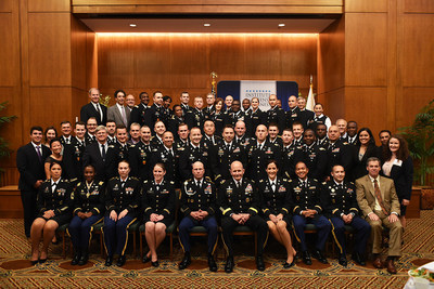 2016 UNC-IDB Strategic Studies Fellows Program graduates pose with Major General (MG) William Hix, Director of Strategy, Plans and Policy, Deputy Chief of Staff G-3/5/7, Headquarters for the Department of the Army.