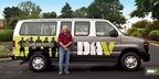 Kevin Motter, DAV Transportation Network volunteer, alongside one of DAV's Ford vehicles used to provide free rides for veterans to and from their medical appointments.