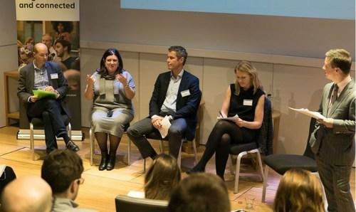 The PR agency of the future panel: Paul Hender, Denise Kaufmann, Nigel Miller, Alice Weightman and chair Philip Smith (PRNewsFoto/Gorkana)