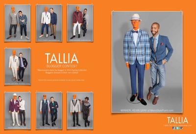 Sample of TALLIA ORANGE Spring 2014 advertising spread.  (PRNewsFoto/Peerless Clothing)