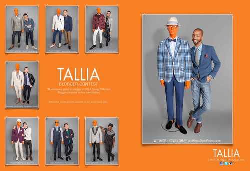 Sample of TALLIA ORANGE Spring 2014 advertising spread.  (PRNewsFoto/Peerless Clothing)