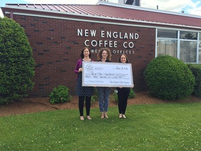 New England Coffee presents a check to Rosie's Place and VNA Hospice and Palliative Care for $33,150. Proceeds from the 24th Annual Charity Golf Classic held at the Andover Country Club, Andover, MA.