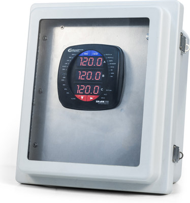 EIG's Pre-Wired and Configured Shark Multifunction Power and Energy Meter in NEMA 4X Rated Enclosure for Outdoor Installation