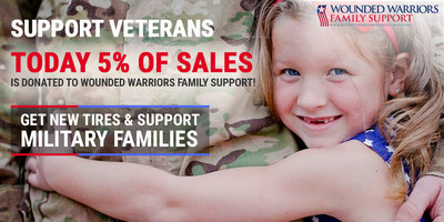 5% off SimpleTire.com sales is donated to support military families.