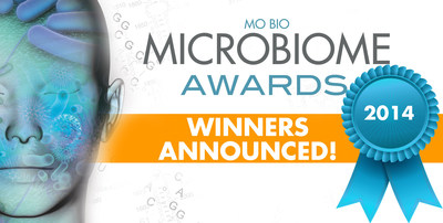 MO BIO Laboratories announces Microbiome Awards winners. (PRNewsFoto/MO BIO Laboratories, Inc.)
