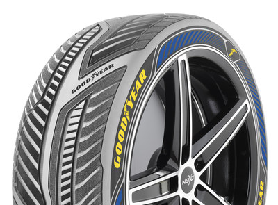 The Goodyear IntelliGrip concept tire is designed to communicate with autonomous vehicle control systems, sensing road surface and weather conditions for improved driving safety and performance. The Goodyear Tire & Rubber Company revealed the innovative new concept tire today at the 86th Geneva International Motor Show.