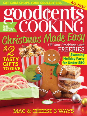 November/December holiday issue of Hoffman Media's newest magazine Good Cents Cooking.  (PRNewsFoto/Hoffman Media, LLC)