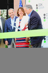 CDK Global leaders officially open their Customer Experience Center in Cincinnati, Ohio. (L-R) Bob Karp, president, North America, Yvonne Surowiec, Chief Human Resources Officer, and Brian MacDonald, Chief Executive Officer.