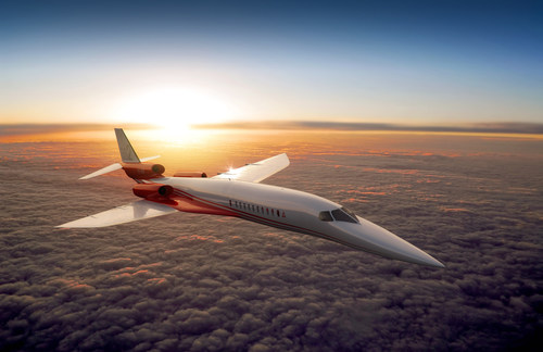 Certification of the Aerion AS2 Mach 1.6 supersonic business jet is planned for 2021. (PRNewsFoto/Aerion ...