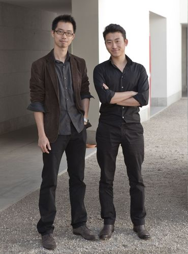"""First prize winners Bo Li and Ge Men from China won first prize for their project """"resonance, memory""""."""