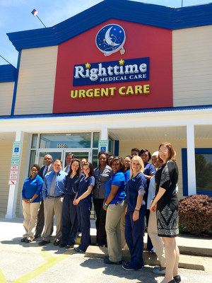Righttime Medical Care employees are preparing for the grand opening of the newest location in Waldorf, Md.