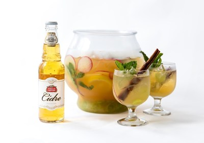The Stella Artois Cidre Sangria Punch by Chef Omar Flores of Casa Rubio in Dallas, TX. (Photo credit: Kristjan Veski for Stella Artois)