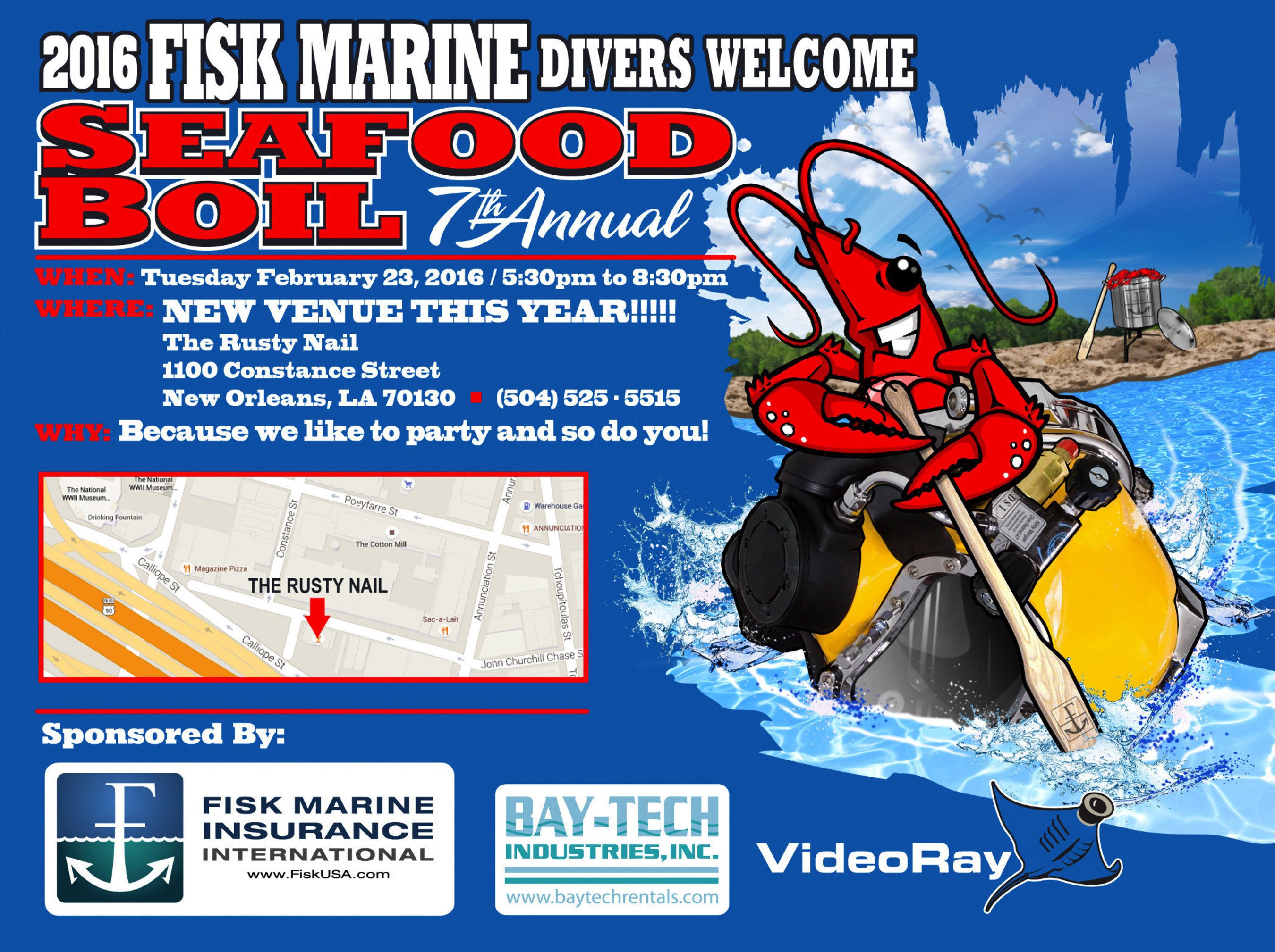 Fisk Marine Announces Panel Discussion and 7th Annual Divers' Welcome Seafood Boil